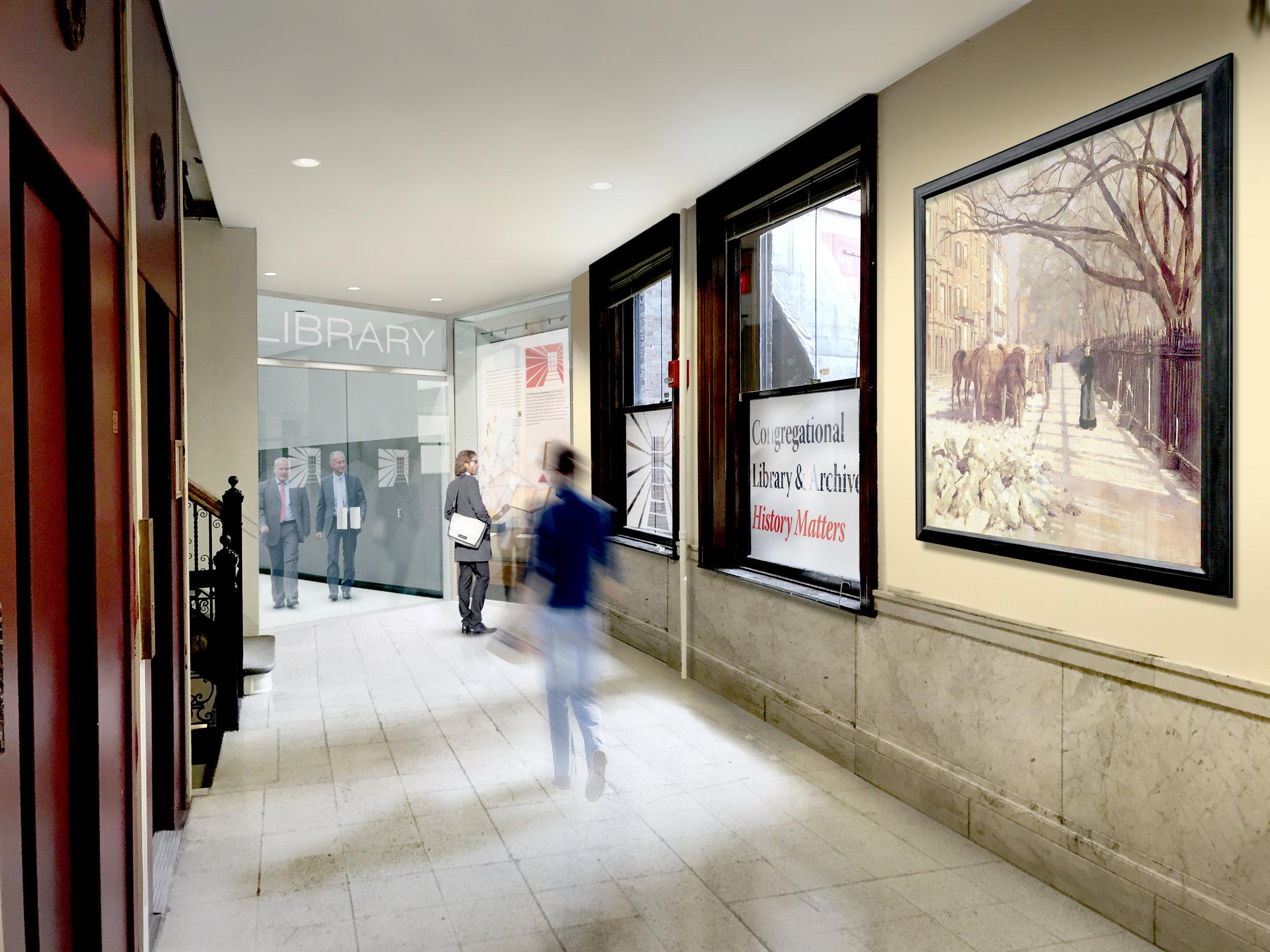 proposed 2nd floor hallway