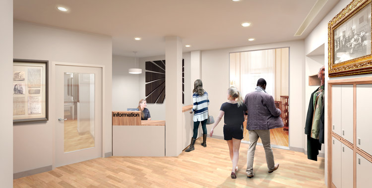 proposed lobby and reception area