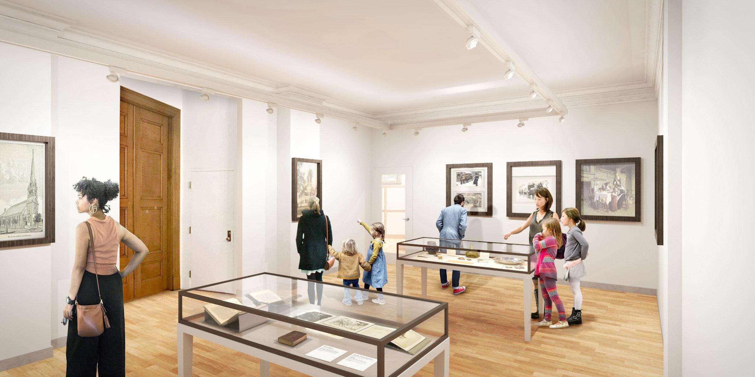 proposed Pratt Room exhibition space
