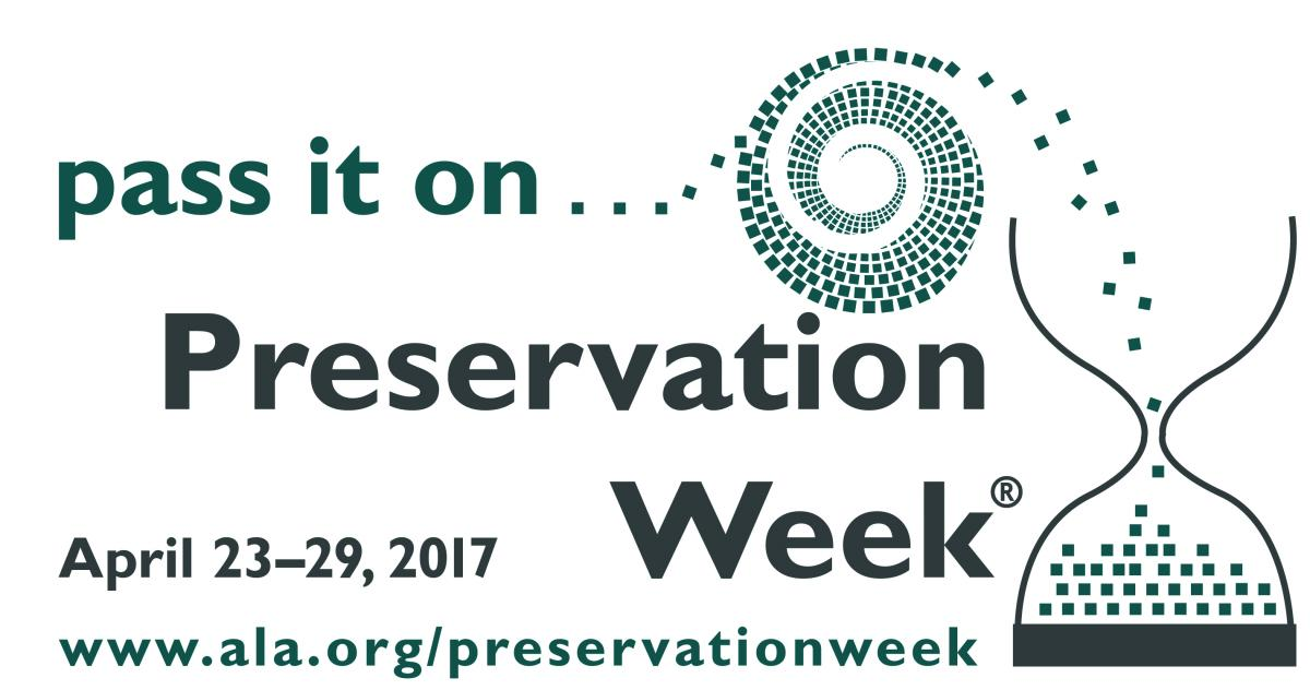 ALA Preservation Week 2017 logo