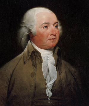 John Adams official presidential portrait by John Trumbull