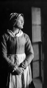 "Martha Ballard as portrayed by Kaiulani Lee in ""The Midwife's Tale"""