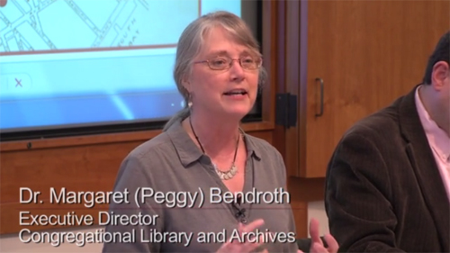 "Peggy Bendroth in ""Spiritual Intersections in Boston History"", 31 Marcy 2015"