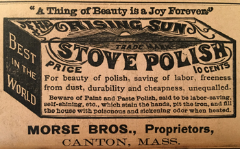 Rising Sun stove polish advertisement
