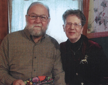 Davida Foy Crabtree and husband David, Christmas 2009