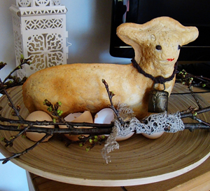 Easter lamb bread