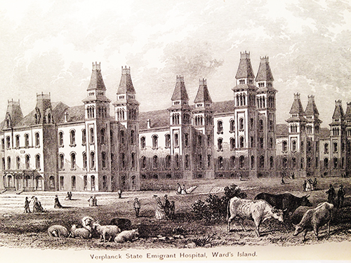 Verplanck State Emigrant Hospital, Ward's Island, NY