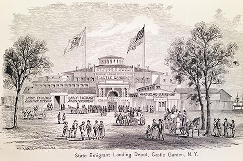 State Emigrant Landing Depot, Castle Garden, NY