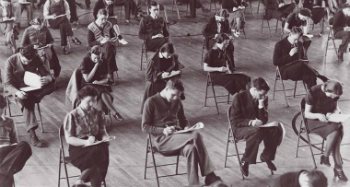 diligent students at Hamline University in the 1930s