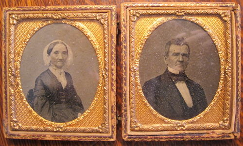 cased  image of George and Anna Harker