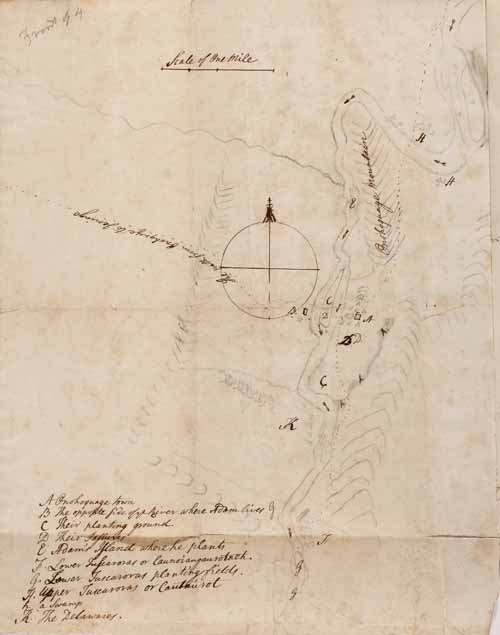 map from Gideon Hawley's journals (vol. 4)