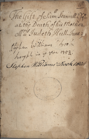 "inscription in the CLA copy of ""Johannes In Eremo"""