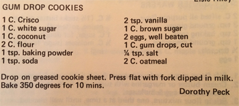Gum Drop Cookie recipe