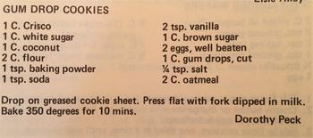 Gum Drop Cookie recipe