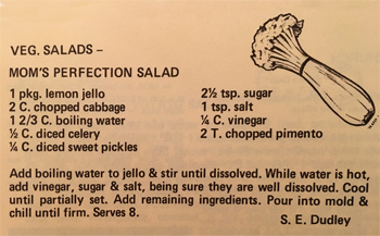 Mom's Perfection Salad recipe