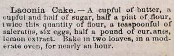 Laconia Cake recipe