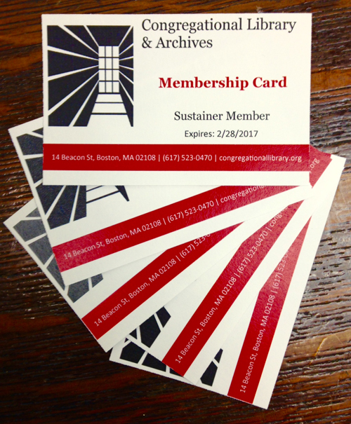 a fan of membership cards