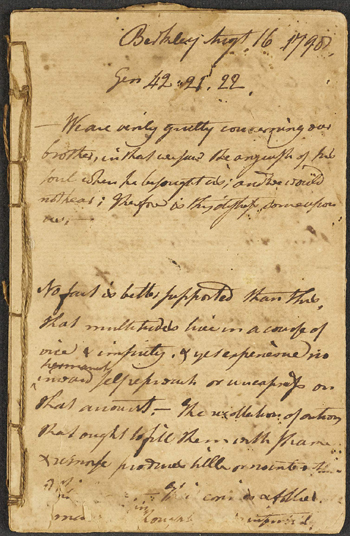 page from Berkley church records