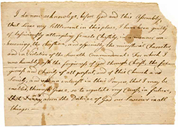Beckwith's confession from the Litchfield collection