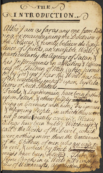 page from Rev. Ebenezer Turell's account