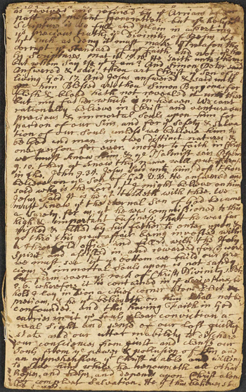 page from John White's sermon notes