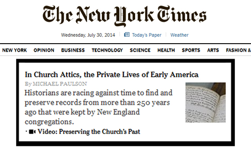 NEHH article blurb on NYT.com, 30 July 2014