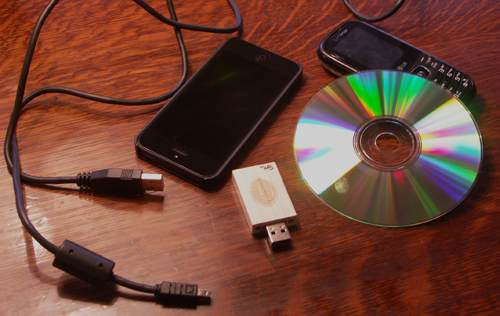 Cellphones, transfer, and storage media