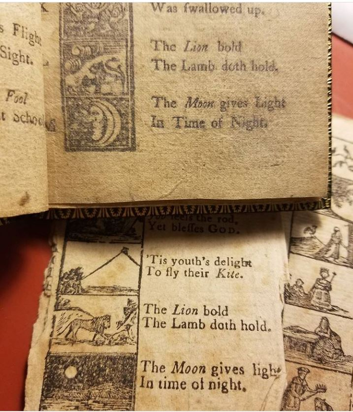 Picture of Alphabet Couplets in the 1780? edition of the New England Primer