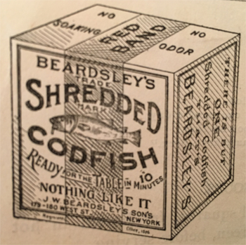 Beardsley's Shredded Codfish advertisement