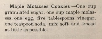 maple molasses cookie recipe