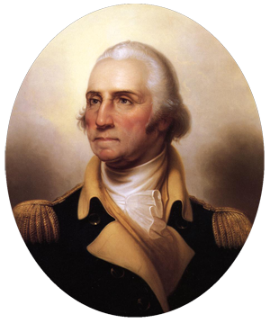 portrait of George Washington by Rembrandt Peale, ca. 1850