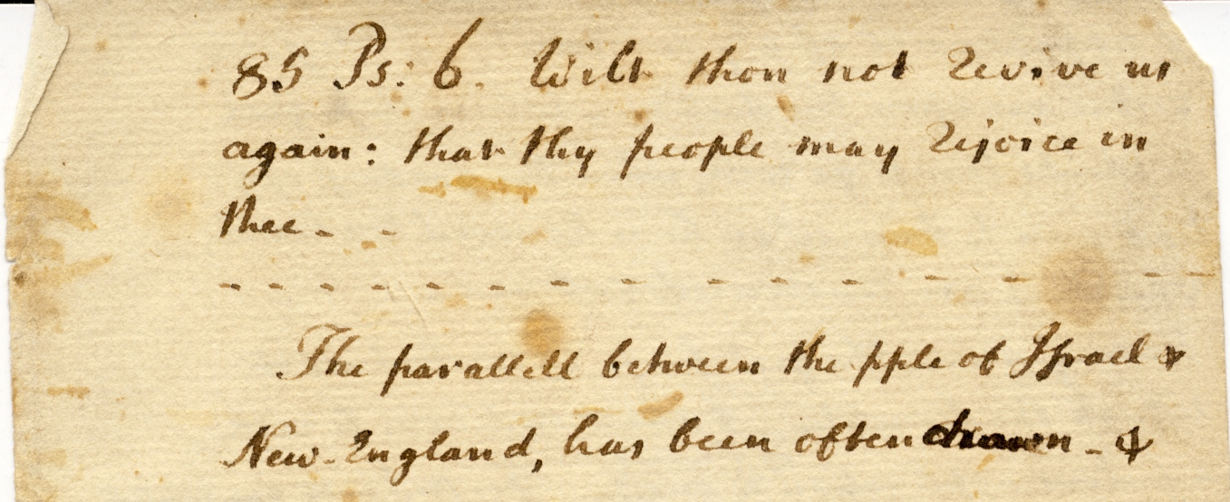 top portion of the first page of the Boston Massacre sermon
