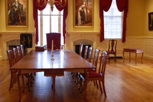 the restored Council Chamber at Boston's Old State House