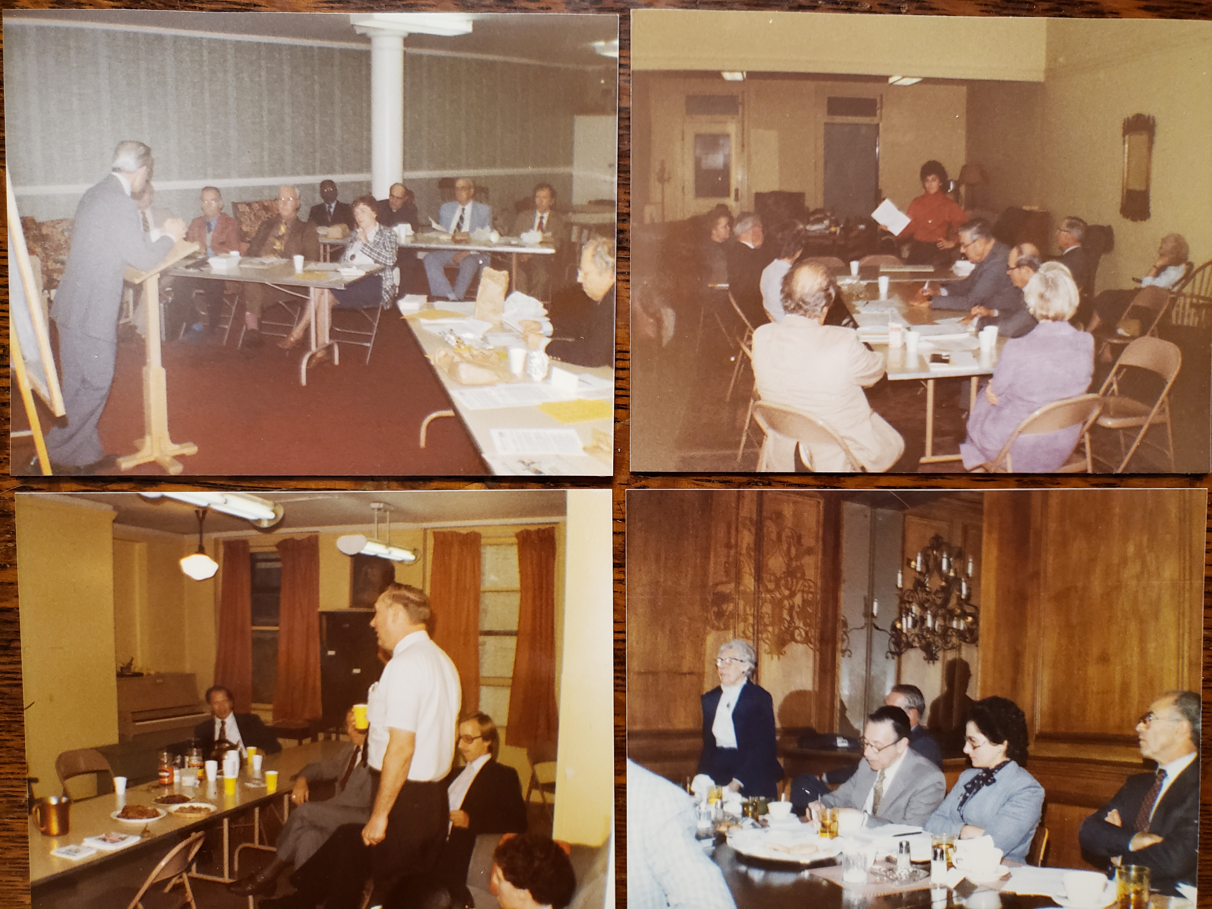 Images from meetings of the Churchman's League