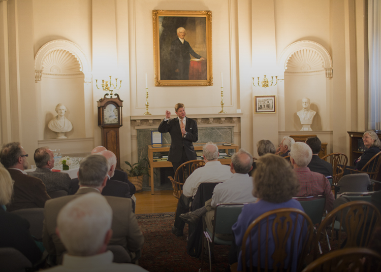 author and historian Randall Balmer entertains his audience