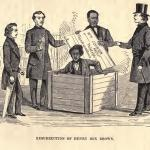 "Resurrection of Henry Box Brown, from ""The Underground Railroad"" by William Still (1872)"