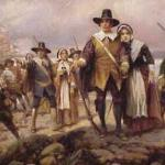 Pilgrims Landing by Edward Percy Moran