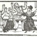 "woodcut of ""wicked Ranters"" from the book ""Hell Broke Loose..."" (1651)"