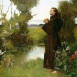 """St. Francis"" (1898) by Albert Chevallier Tayler"