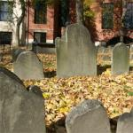 gravestones in the Granary Burial Ground