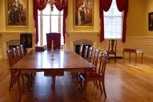the restored Council Chamber in the Old State House