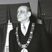 Robert Briscoe, Lord Mayor of Dublin, 1962