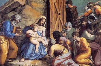 The Adoration of the Magi (ca. 1518) by Raphael