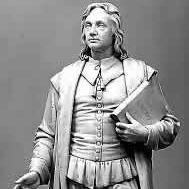 statue of Roger Williams in the National Statuary Hall Collection in the US Capitol Building