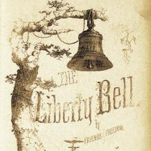 """cover of """"The Liberty Bell"""" (1856 ed.) published by the American Anti-Slavery Society"""