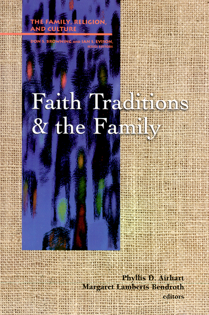 "cover image for ""Faith Traditions and the Family"""