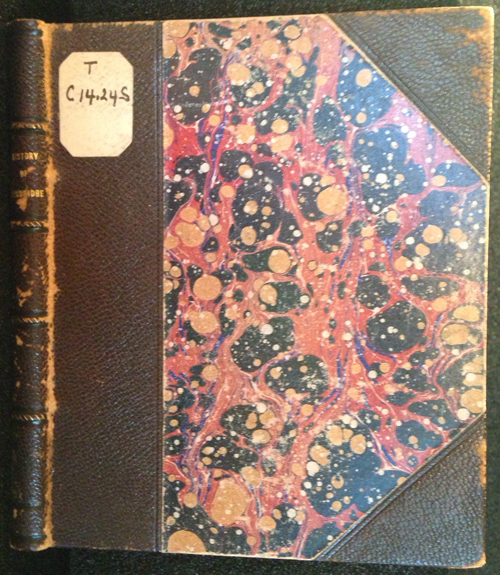 """cover of """"Two Hundred Years Ago"""" written by S.S.S., published by Otis Clapp"""
