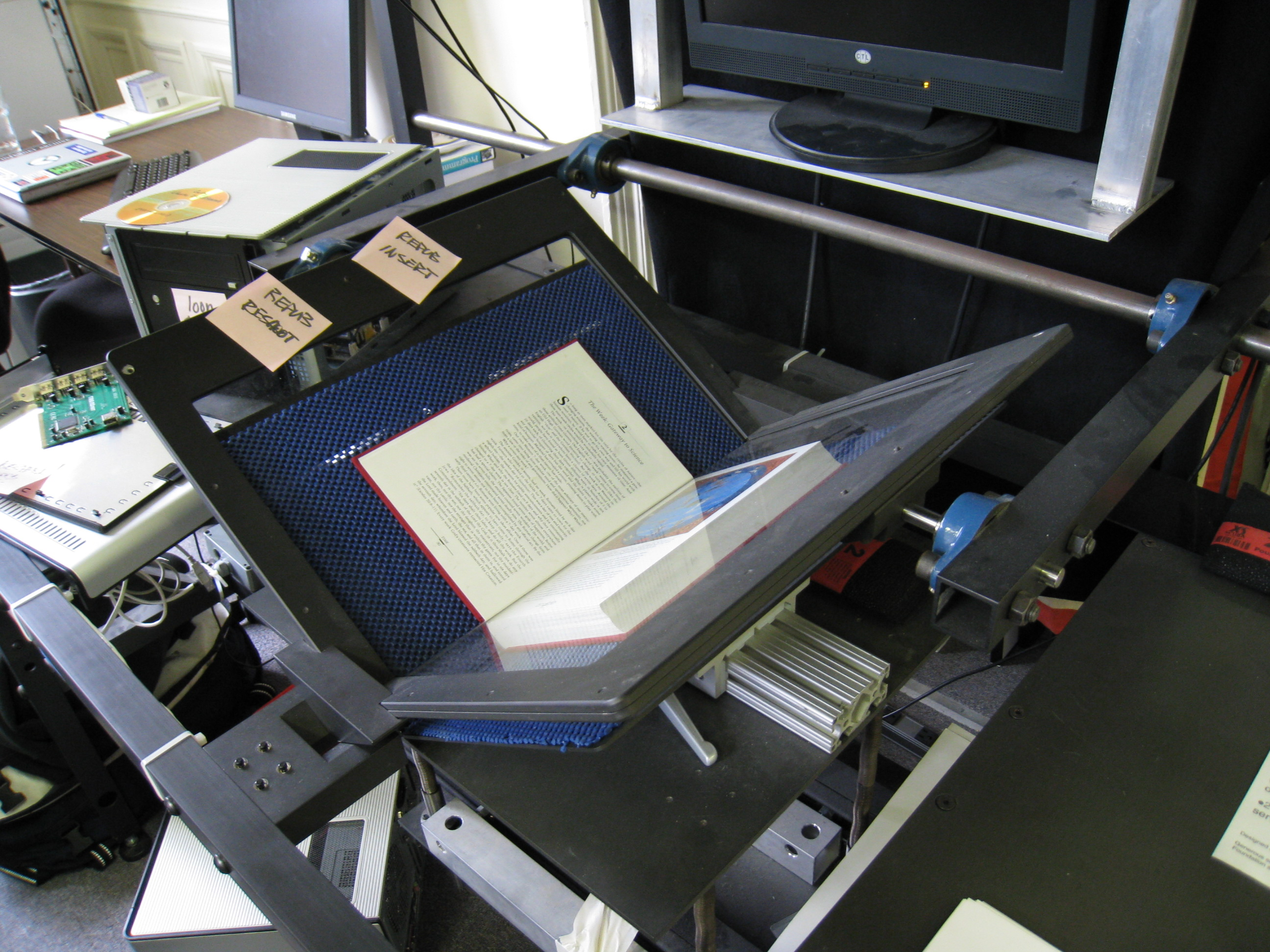 Digitization at the Internet Archive using a cradle scanner
