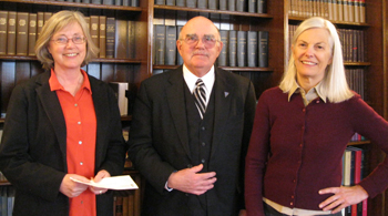 a generous donor with our Executive Director and Director of Development