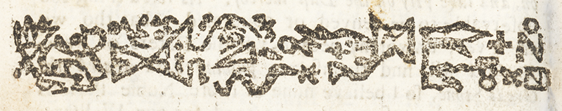 "woodcut of petroglyphs from Mather's ""Wonderful Works of God Commemorated"""